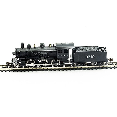Model Power 2-6-0 Mogul Illinois Central DCC with Sound -- N Scale Model Train Steam Locomotive -- #876181