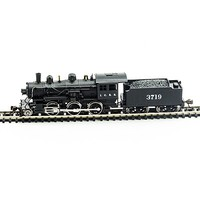 Model-Power 2-6-0 Mogul Illinois Central DCC with Sound N Scale Model Train Steam Locomotive #876181