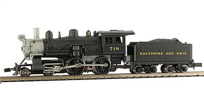 Model-Power 4-4-0 American B&O DCC with Sound N Scale Model Train Steam Locomotive #876231