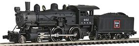 Model-Power Steam 4-4-0 American Chicago, Burlington & Quincy N Scale Model Train Steam Locomotive #87624