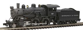 Model-Power Steam 4-4-0 American Minneapolis & St. Louis N Scale Model Train Steam Locomotive #87628