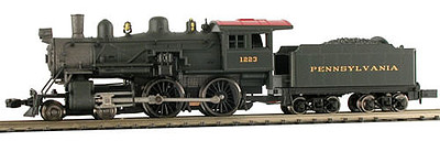Model Power 4-4-0 American PRR DCC Ready -- N Scale Model Train Steam Locomotive -- #87631