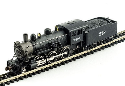 Model Power 2-6-0 Mogul Wabash DCC with Sound -- N Scale Model Train Steam Locomotive -- #876511