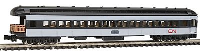 Model Power Heavyweight Observation Canadian National -- N Scale Model Train Passenger Car -- #88635