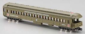 Model-Power Heavyweight Observation - Ready to Run United States Army Troop Carrier/Hospital (olive) - N-Scale