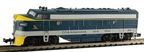 Model-Power EMD FP7 Phase II w/Sound - Chesapeake & Ohio N Scale Model Train Diesel Locomotive #89447