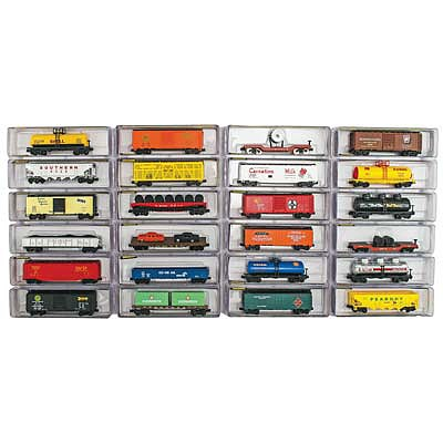 Model Power Deluxe Heavy Weight Freight Car (24) -- N Scale Model Train Freight Car Set -- #89653