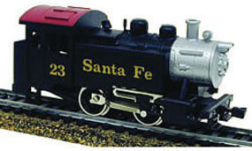 Model-Power 0-4-0 Tank Switcher DCC w/Snd/Remote ATSF HO Scale Model Train Steam Locomotive #965001