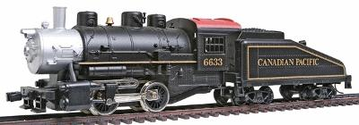 Model Power 0-4-0 Shifter w/Tender Powered Canadian Pacific -- HO Scale Model Train Steam Locomotive -- #96633