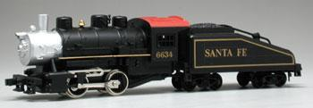 Model Power 0-4-0 Shifter with Tender Santa Fe #6634 -- HO Scale Model Train Steam Locomotive -- #96634
