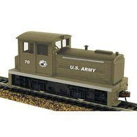 Model-Power DDT Plymouth Industrial DCC w/Sound/Remote US Army HO Scale Model Diesel Locomotive #966811