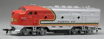 Model-Power Diesel F2-A Dual Drive AT&SF HO Scale Model Railroad Locomotive #96800
