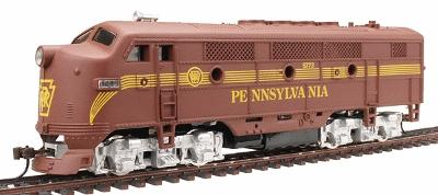 Model Power F2-A Dual Drive w/Light Pennsylvania RR -- HO Scale Model Train Diesel Locomotive -- #96801