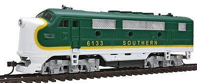 Model Power F2-A Dual Drive Powered w/Light Southern Railway -- HO Scale Model Train Diesel Locomotive -- #96808