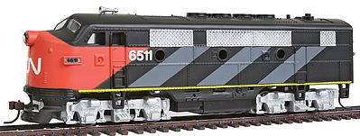 Model Power F2-A Dual Drive Powered Canadian National -- HO Scale Model Train Diesel Locomotive -- #96809