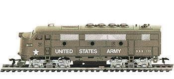 Model Power F2A Loco US Army -- HO Scale Model Train Diesel Locomotive -- #96813