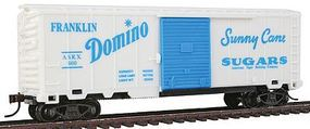 Model-Power 40 Boxcar with Sliding Door Domino HO Scale Model Train Freight Car #98006