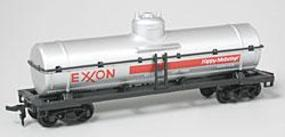 Model-Power 40' Heavyweight Chemical Tank Exxon HO Scale Model Train Freight Car #98105
