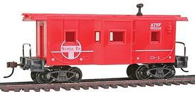 36' Bay Window Caboose Atchison Topeka & Santa Fe HO Scale Model Train Freight Car #98241