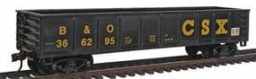 Model-Power 40 Gondola - CSX Transportation (Baltimore & Ohio) HO Scale Model Train Freight Car #98509