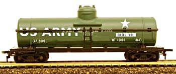 Model Power 40' Tank Car US Army Diesel Fuel -- HO Scale Model Train Freight Car -- #98663