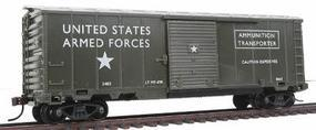 Model-Power 40' Ammunition Box Car Military Action Series HO Scale Model Train Freight Car #98665