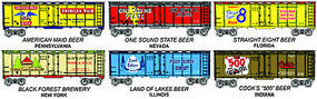 Model-Power 41 Reefer Beer Can Cars 6-Pack HO Scale Model Train Freight Car #98706