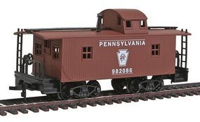 Model-Power 32' Wood Caboose Pennsylvania HO Scale Model Train Freight Car #99141
