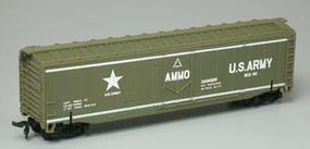 Model-Power Exploding Ammo Boxcar US Army #80299 HO Scale Model Train Freight Car #99164