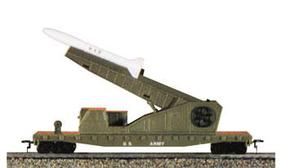 Model-Power Flatcar w/Launcher/Missiles USA HO