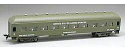 Model Power 67' US AF Troop Carrier -- HO Scale Model Train Passenger Car -- #99895