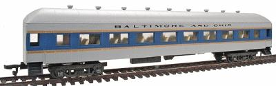 Model Power 67' Harriman Coach w/Interior -- Baltimore and Ohio (blue) - HO-Scale