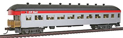 Model Power 67' Harriman Observation w/Interior Canadian Pacific -- HO Scale Model Train Passenger Car -- #99915
