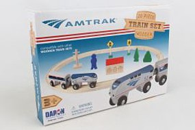 Model-Power Amtrak 20pc Wood Train Set