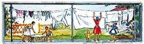 Merten Women Hanging Laundry Model Railroad Figure HO Scale #2319