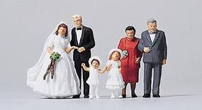 Merten Bride & Groom with Flower Girls & Parents Model Railroad Figure HO Scale #2535