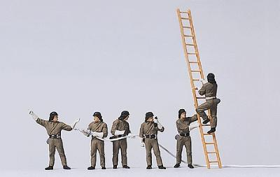 German Firemen with Ladder
