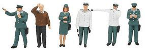 Merten German Traffic Police Officers (6) Model Railroad Figure HO Scale #2557