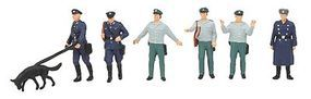 Merten Police (German Democratic Republic) (6) Model Railroad Figure HO Scale #2561