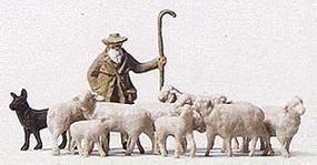 Merten Shepherd with Dog & Sheep Model Railroad Figures HO Scale #5026