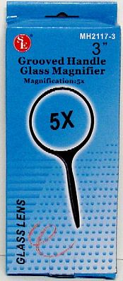 Magnifiers 3'' Round Glass Magnifier 5x Power