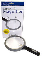 Magnifiers 5 Large Round Magnifier 2x & 6x Power
