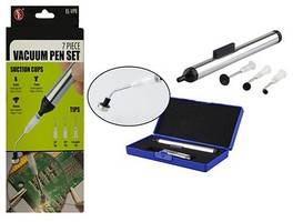 Magnifiers 7pc Vacuum Pen Set w/Interchangeable Suction Cups & Tips