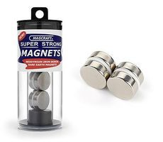 Magcraft 3/4x1/4 Rare Earth Disc Magnets (4)