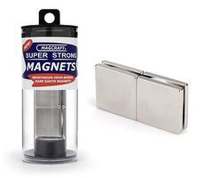 Magcraft 1x1x1/8 Rare Earth Block Magnets (4)