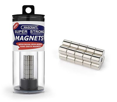 Magcraft Rare Earth Magnets 1/4''x1/4'' Rare Earth Rod Magnets (20)
