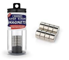 Magcraft 1/2''x1/4'' Rare Earth Disc Magnets (8)