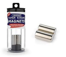 Magcraft 1/2x1 Rare Earth Rod Magnets (2)