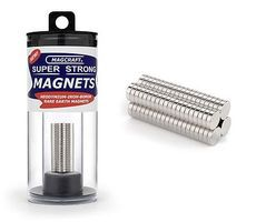 Magcraft 1/4''x1/16'' Rare Earth Disc Magnets (80)
