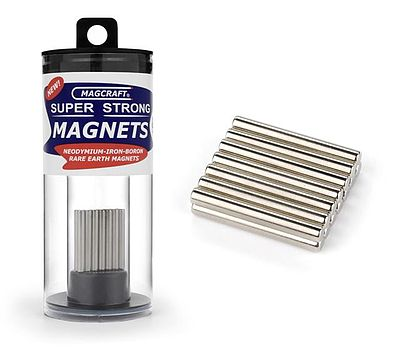 Magcraft Rare Earth Magnets 1/8''x1'' Rare Earth Rod Magnets (14)